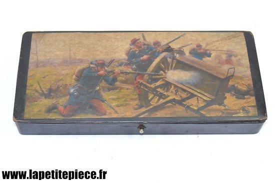 Plumier Français fin 19e Siècle, scène de combat 1870. France