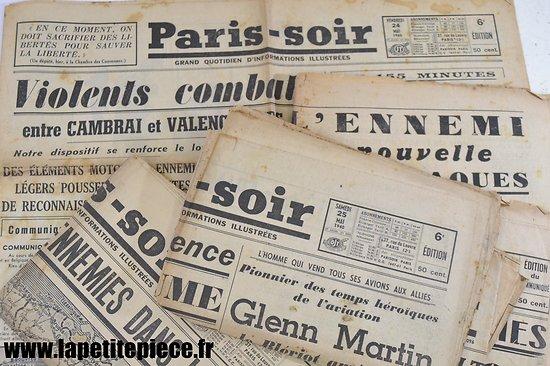 Journal Paris-Soir mai-juin 1940