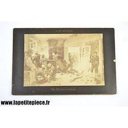 Guerre 1870 - Les Dernières Cartouches, A. De Neuville. Goupil & Cie carte-album 452