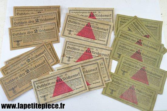 Lot repro billets de camp Allemand WW2