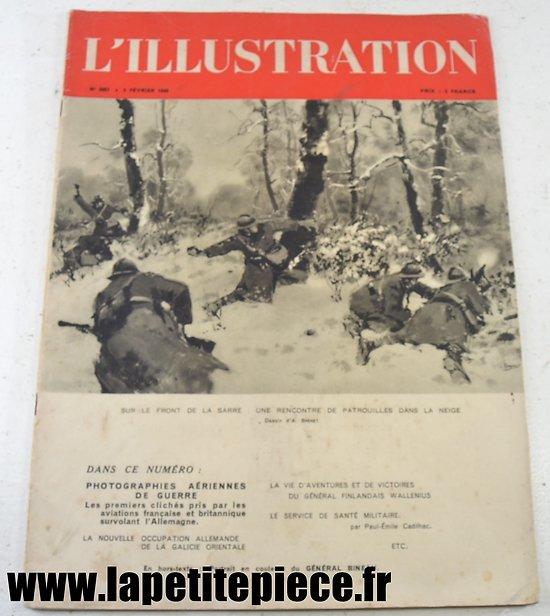 L'illustration du 3 fevrier 1940 - Front de la Sarre