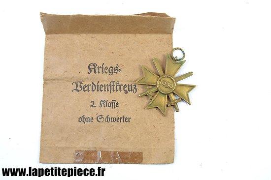 Médaille Allemande Kriegsverdienstkreuz 1939 2e Klasse sans ruban
