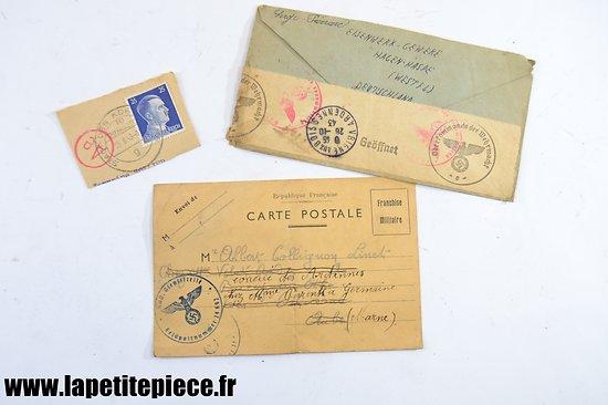 Lettre correspondance prisonnier de Guerre - WW2