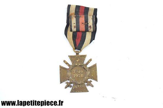 Médaille Allemande Ehrenkreuz für Kriegsteilnehmer 1914-18 avec miniature. Pforzheim R.V.26