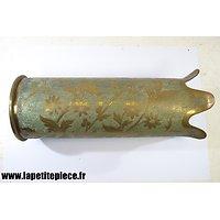 Douille vase artisanat Première Guerre Mondiale 105mm Mle 1913