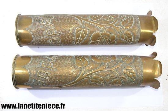 Vases douille artisanat - VERDUN - Première Guerre Mondiale.
