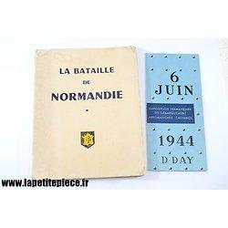 Livre - La Bataille de Normandie, 1963. Par le Capitaine A. Barjaud. Flyer Exposition Arromanches Calvados