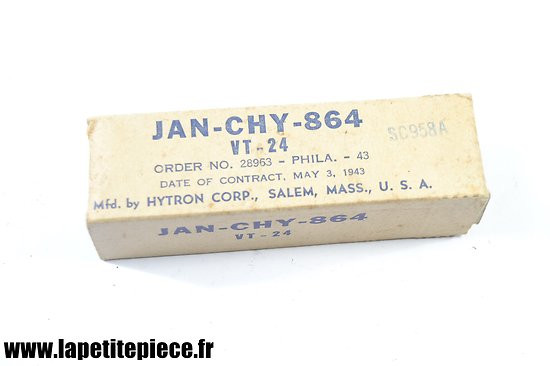 Lampe radio US ARMY TUBE JAN-CHY-864 VT-24 de 1943