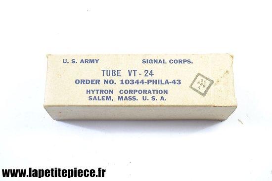 Lampe radio US ARMY TUBE VT-24 de 1943 signal corps SC626A