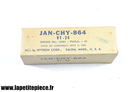 Lampe radio US ARMY TUBE JAN-CHY de 1943 signal corps SC958A