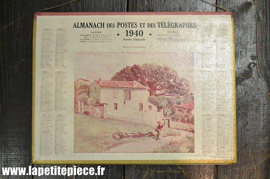 Almanach des postes 1940 (Département des Ardennes)