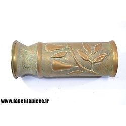 Vase artisanat - décor poires - Première Guerre Mondiale