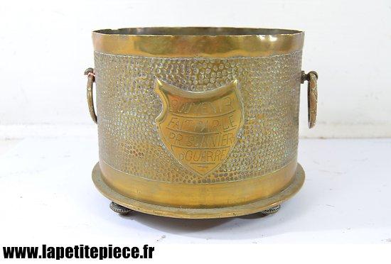 """Pot / vase artisanat """"SOUVENIR FAIT PAR LE PRISONNIER D' GUERRE"""" Première Guerre Mondiale"""