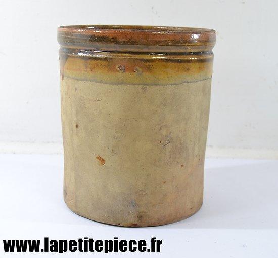 Pot en terre cuite - conserve fin 19e siècle.
