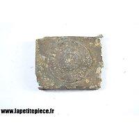 Boucle de ceinturon Saxonne IR 103 - modèle en zinc / aluminium. Pièce de terrain