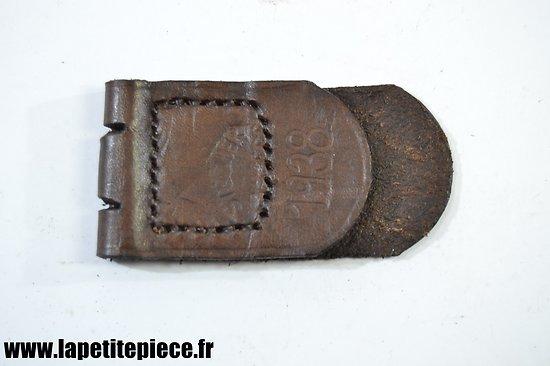 Repro patelette de cuir pour boucle de ceinturon Allemand Stecher Freiberg 1938 Wehrmacht