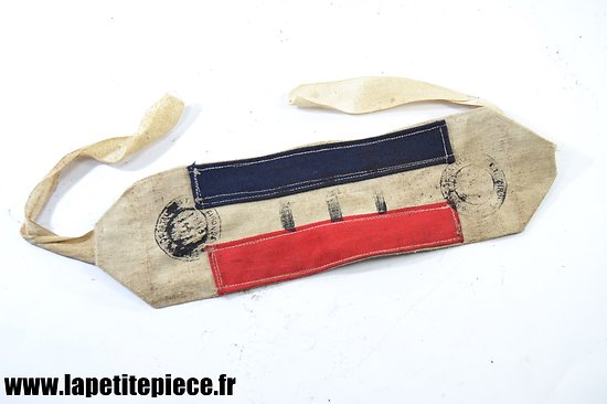 Repro brassard FFI résistance, Groupe de bataillon ffi Gironde, patiné.