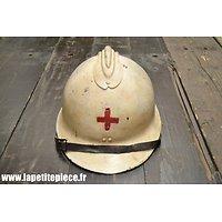 Casque Français modèle 1926 reconditionné Croix de Rouge / Infirmier