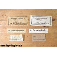 Repro étiquettes pour Patronenkasten 88, Première Guerre Mondiale.
