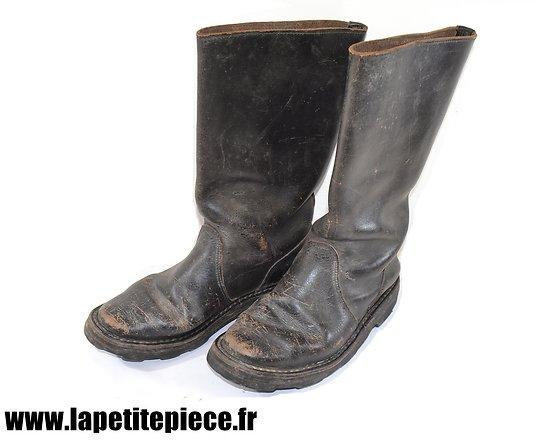 Bottes cuir style Allemand (Après Guerre). Taille 43