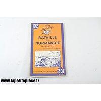 Carte Michelin, bataille de Normandie juin-aout 1944, réimpression de la historique de 1947