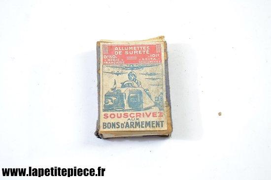 Repro boite allumettes Française Deuxième Guerre Mondiale.