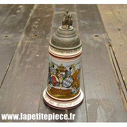 Reproduction chope à bière de réserviste Allemand. Infanterie Rgt. 11 Munchen (Bavière)