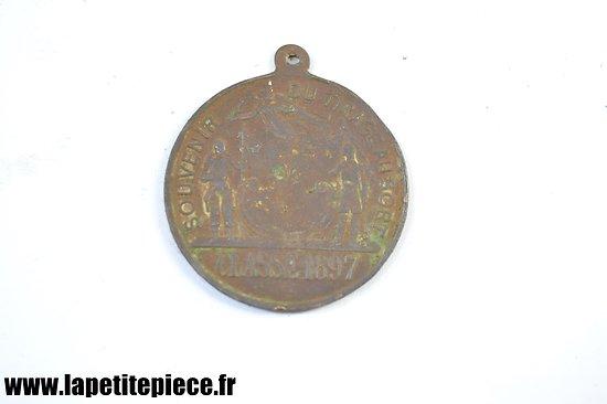 Médaille souvenir du tirage au sort, conscription classe 1897