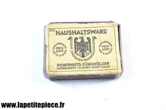 Boite d'allumettes Allemande Deuxième Guerre Mondiale. Haushaltsware