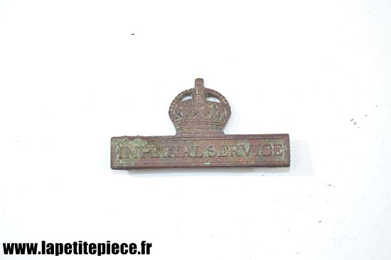 Territorial Force Service - Imperial Service. Badge Anglais WW1