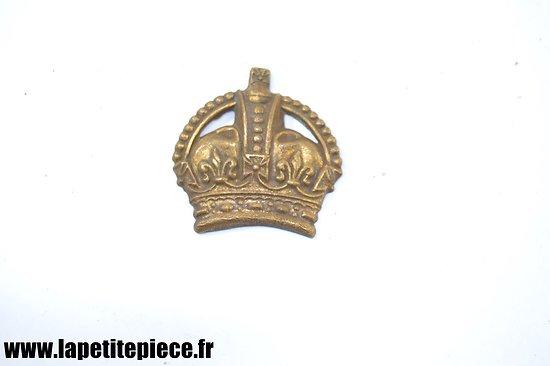 Insigne Anglais Première Guerre Mondiale. Crown KC - WW1