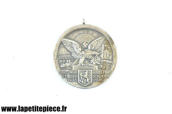 Médaille Allemande 1935 - 500 Jähr. Jubelfest St. Sebastian Schützengesellschaft in Düsseldorf