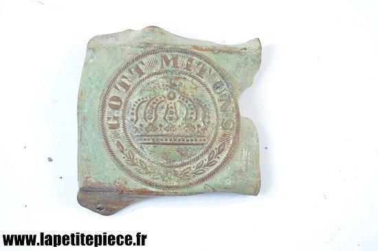 Boucle Prussienne de 1870. Pièce de terrain, régimentée