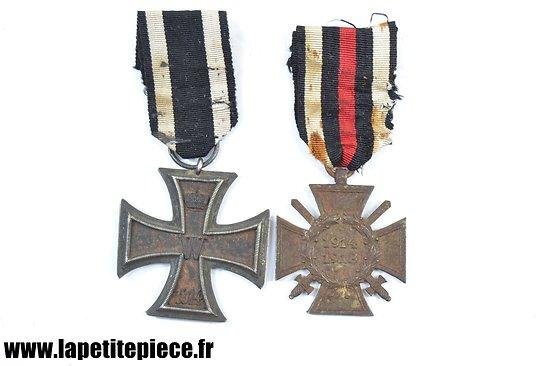 Croix de fer 2e classe 1914 et Ehrenkreuz des Weltkrieges - Allemand WW1