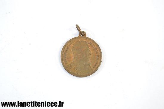 Médaille Allemande FRIEDRICH III 1888 LERNE LEIDEN OHNE ZU KLAGEN