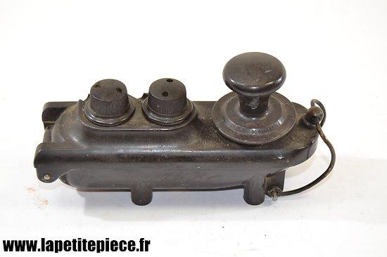"Manipulateur Morse Anglais WW2 - RAF ""Bathtub"" Morse key 10A/7739"