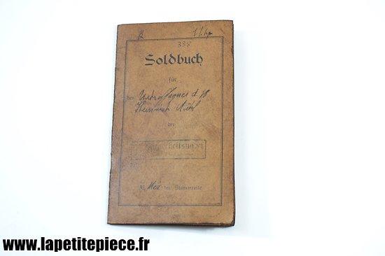 Repro Soldbuch Allemand Première Guerre Mondiale.