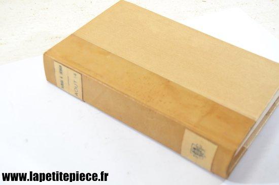 Livre - Aout 14, par Barbara Tuchman. Edition de 1962, reliure ancienne cuir