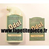 Etiquette / label ODOL, pour bouteille céramique Allemande Première Guerre Mondiale. Allemand WW1. Reproduction