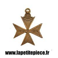 Médaille de la croix des déportés belges pendant la Première Guerre Mondiale 1914 1918. Belgique WW1