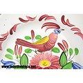 Assiette Luneville décor oiseau - début 20e Siècle