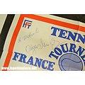 Lot affiches dédicacées Tennis - Brigitte Simon, Vadim Borisov et Nathalia Chmyreva
