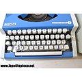 Machine à écrire Olympia Traveller de Luxe - bleue