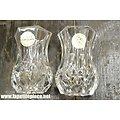 Deux petits vases Cristal d'Arques France