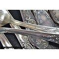 Service de couverts Louis XV 1818 Polida, métal argenté. Solingen
