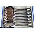 Coffret 12 petites cuillères métal argenté, bijouterie Habay à Virton (Belgique) OKA 60