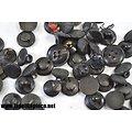 Lot de petits boutons anciens, noir.