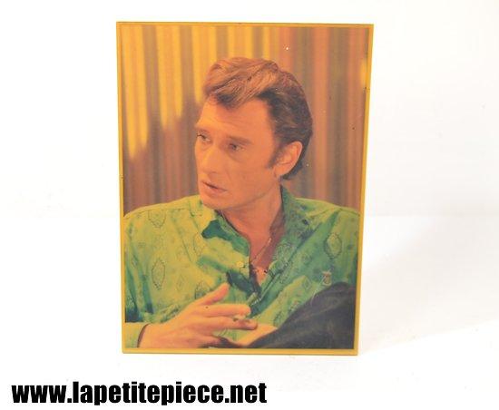 Plaque Johnny Hallyday, souvenir du concert Reims 19 octobre 1987