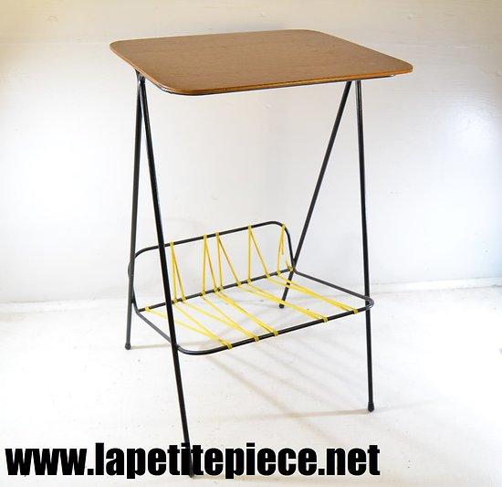 Petite table d'appoint porte vinyles - années 1950 - 1970