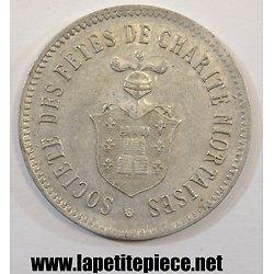 Jeton Société des Fêtes de Charité Niortaise. Tombola 3, 4 et 5 juin 1906.